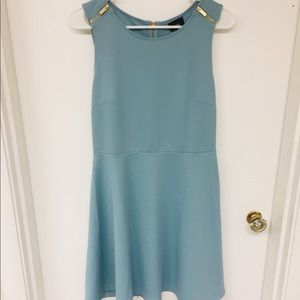 New Turquoise & Gold Accent Dress